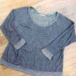 Maurices shirt long sleeve gems Chevron 2X